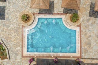 blue bay andros aerial pool view
