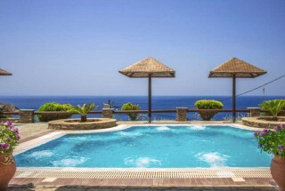 blue bay andros pool view